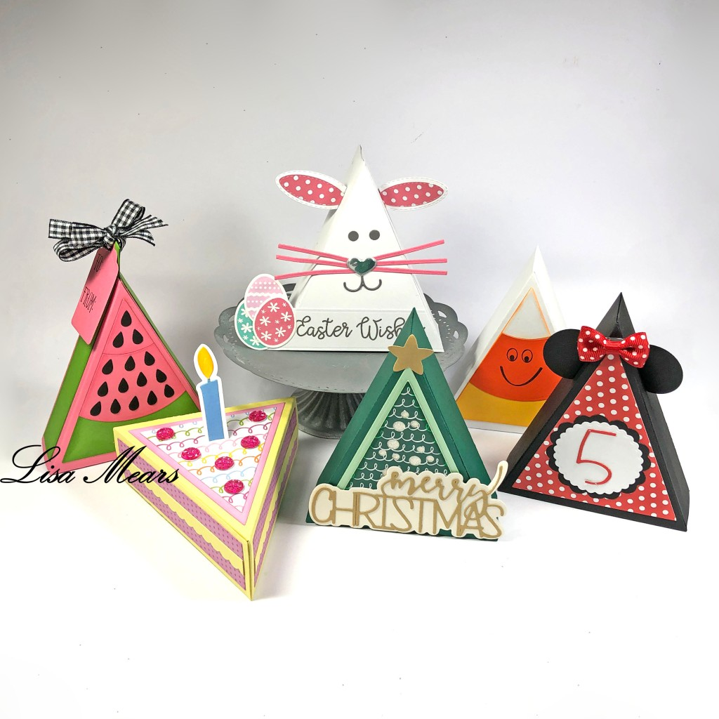 Triangle Box Papercraft - The Stamps of Life