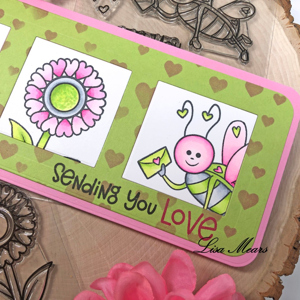 Slimline Card with Love bug