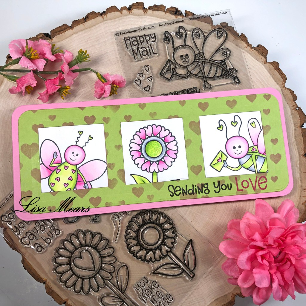 Slimline Card with LoveBugs2Stamp