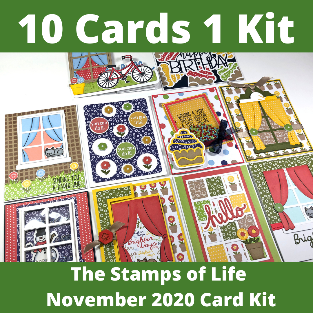 The Stamps of Life November 2020 Card Kit - 10 Cards 1 Kit