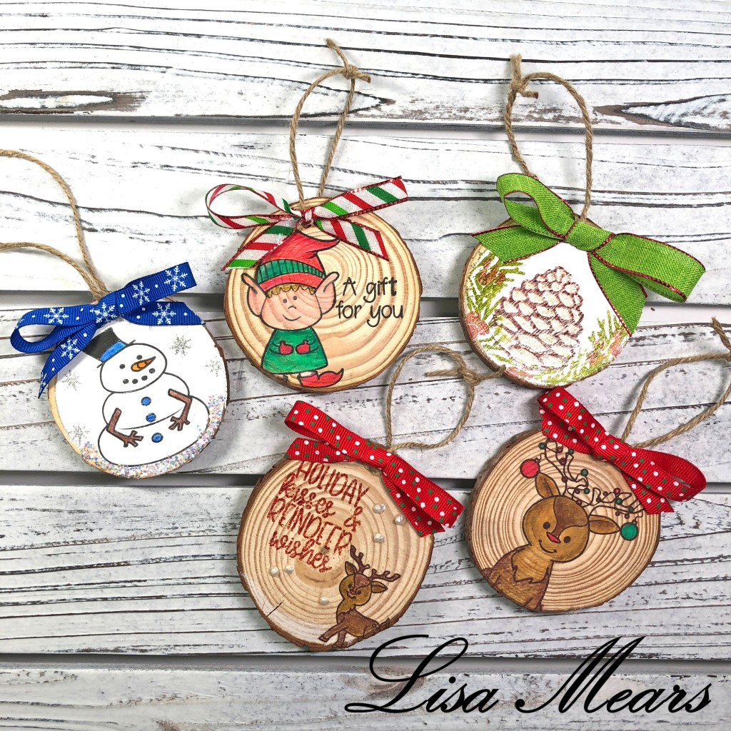 Wood Slice Ornaments and Tags