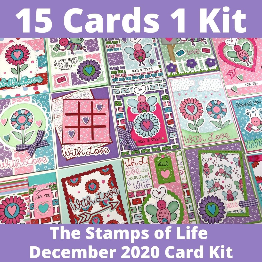 The Stamps of Life December 2020 Card Kit - 15 Cards 1 Kit