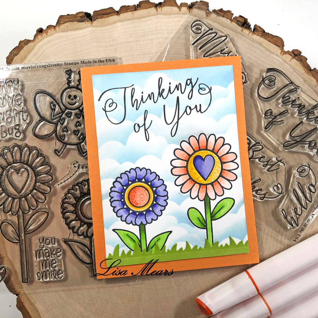 Thinking of You Card with Flowers