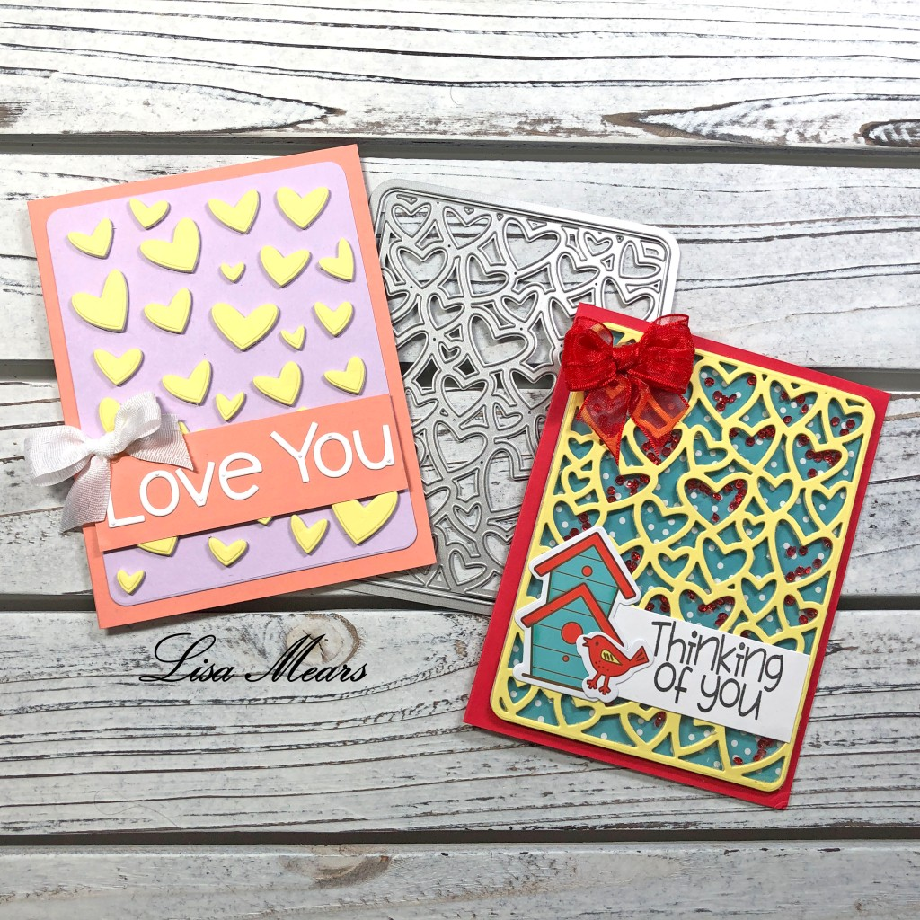 6 Cards 1 Background Die - Heart two Background - The Stamps of Life