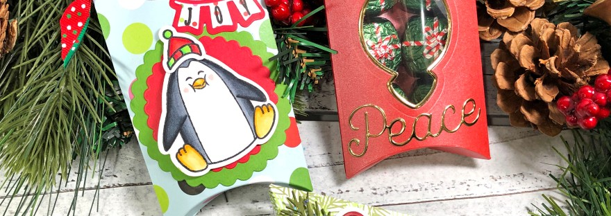 12 Days of Christmas Craft Series - Day 8 Holiday Pillow Boxes