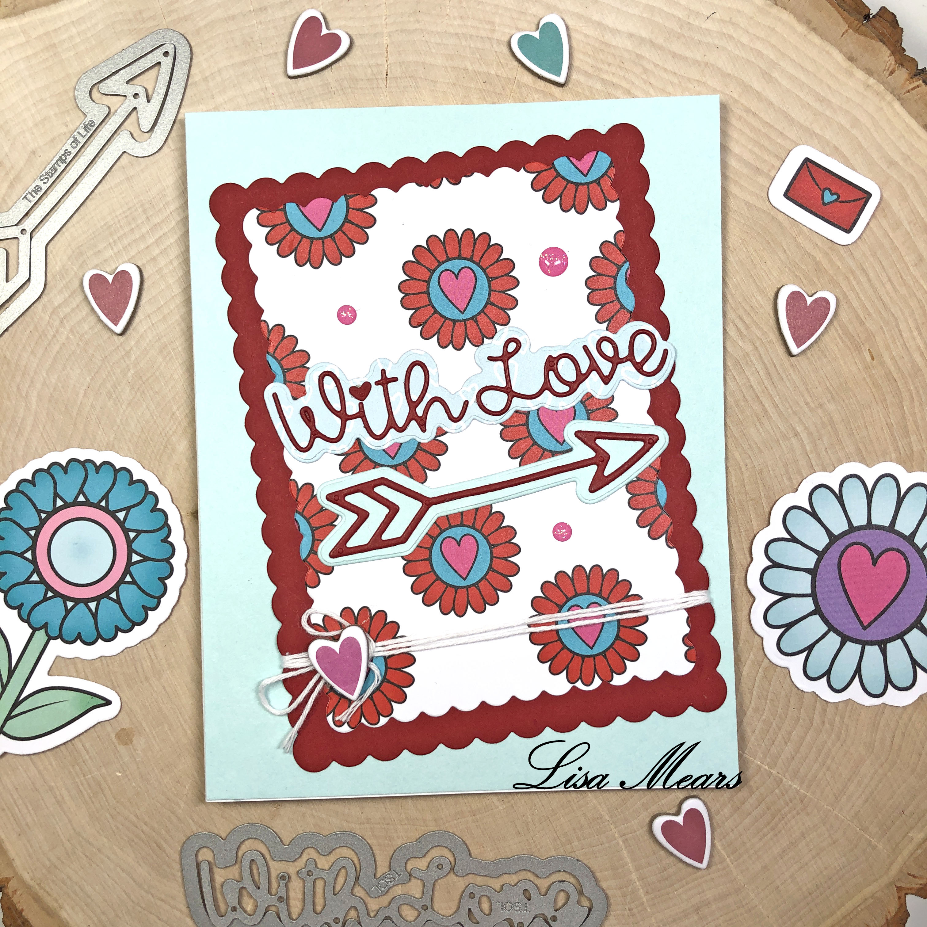 The Stamps of Life December 2020 Card Kit - Love Bugs - 15 Cards 1 Kit - Card 9