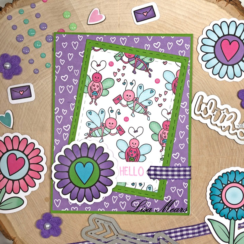 The Stamps of Life December 2020 Card Kit - Love Bugs - 15 Cards 1 Kit - Card 6