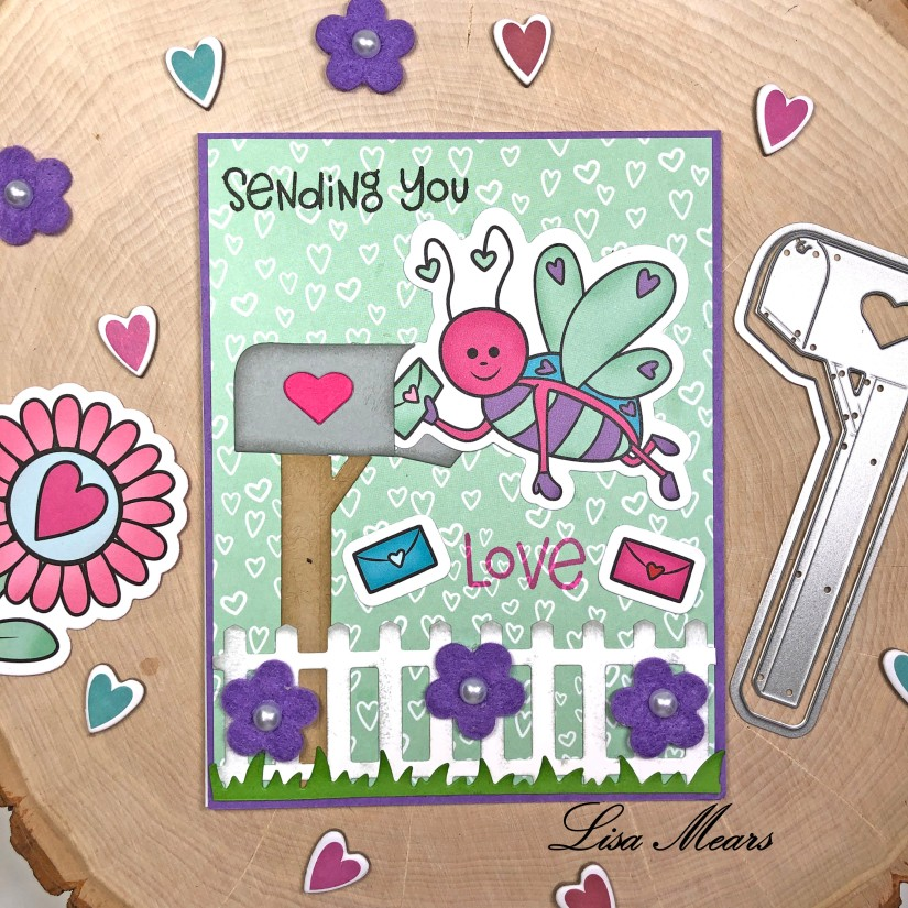 The Stamps of Life December 2020 Card Kit - Love Bugs - 15 Cards 1 Kit - Card 12