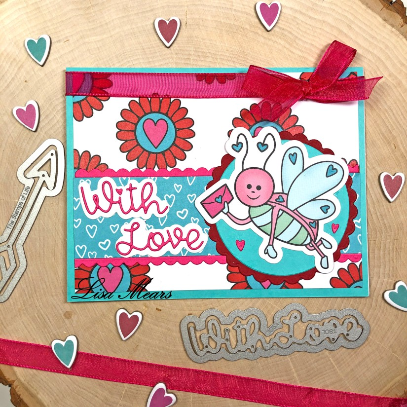 The Stamps of Life December 2020 Card Kit - Love Bugs - 15 Cards 1 Kit - Card 4