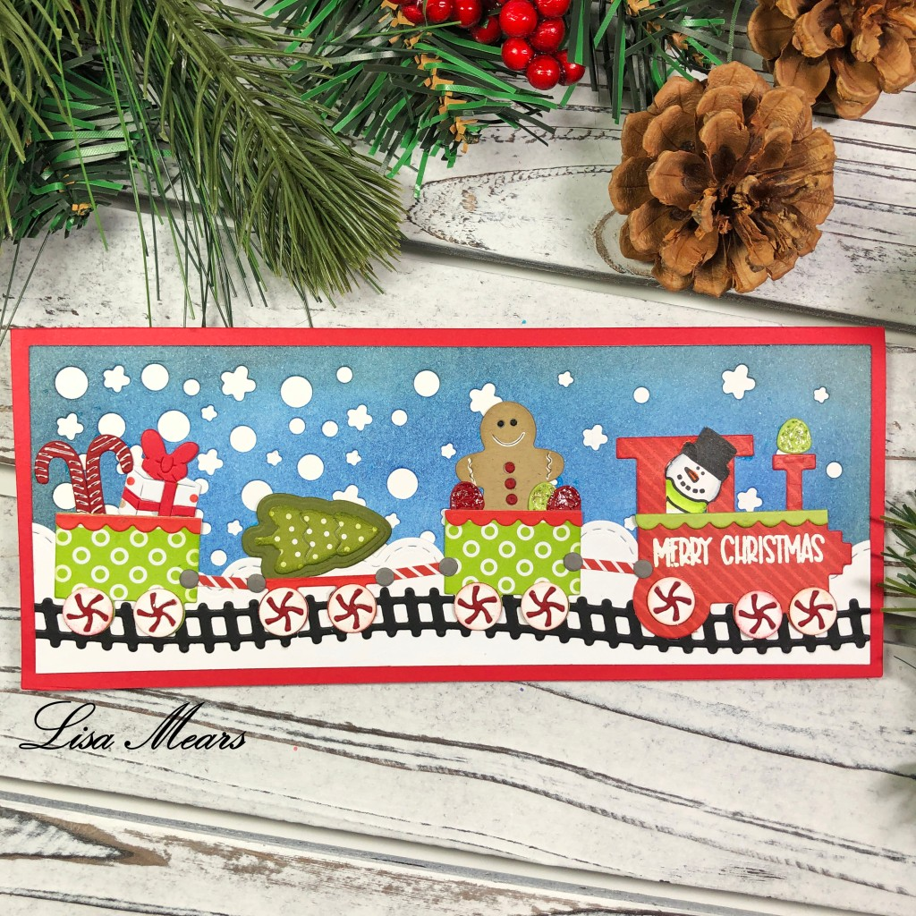 Christmas Train Slimline Card