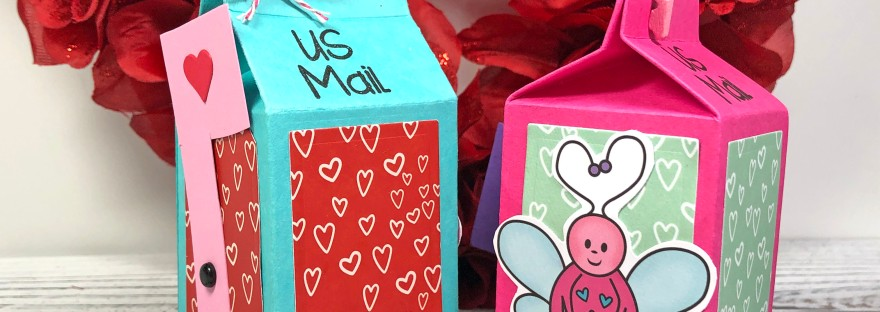 Valentine's Day Milk Carton Treat Box