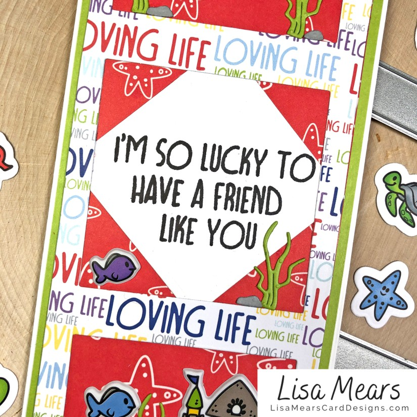 The Stamps of Life January 2021 Card Kit - Loving Life - FishTank2Stamp _Card 10