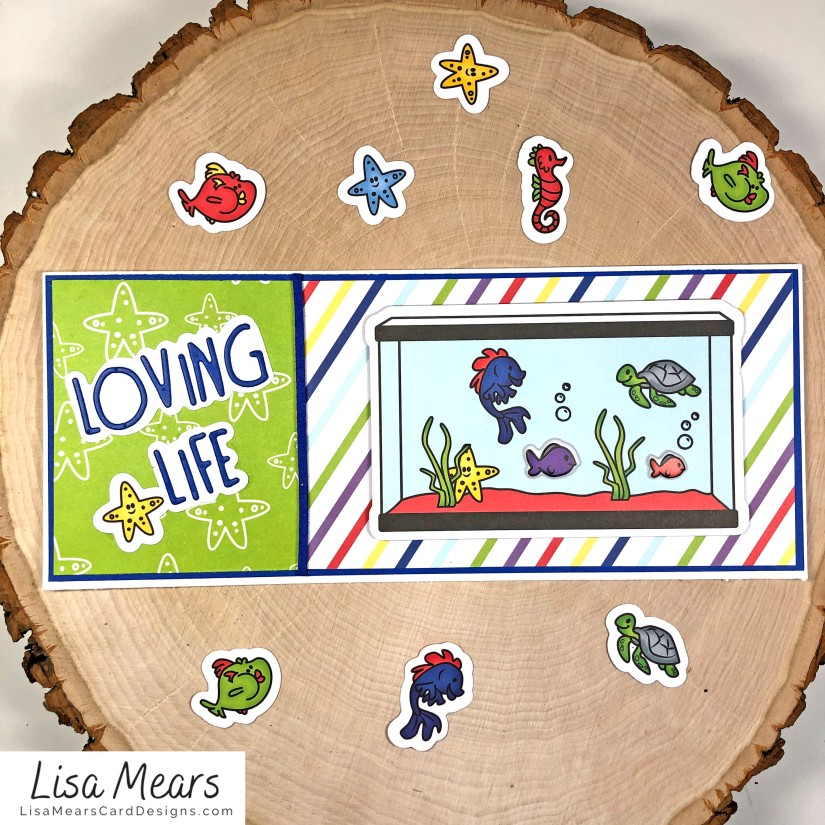 The Stamps of Life January 2021 Card Kit - Loving Life - FishTank2Stamp _Card 2