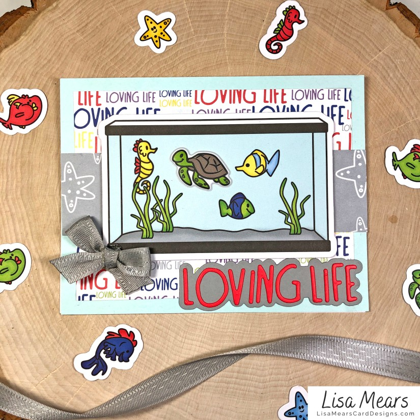 The Stamps of Life January 2021 Card Kit - Loving Life - FishTank2Stamp _Card 5