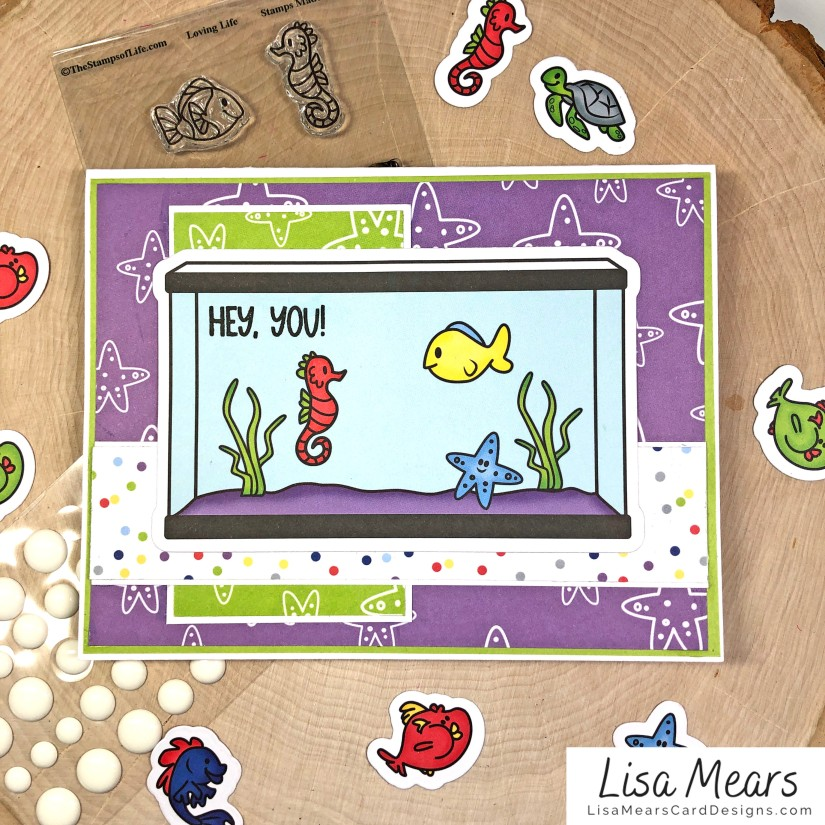 The Stamps of Life January 2021 Card Kit - Loving Life - FishTank2Stamp _Card 6