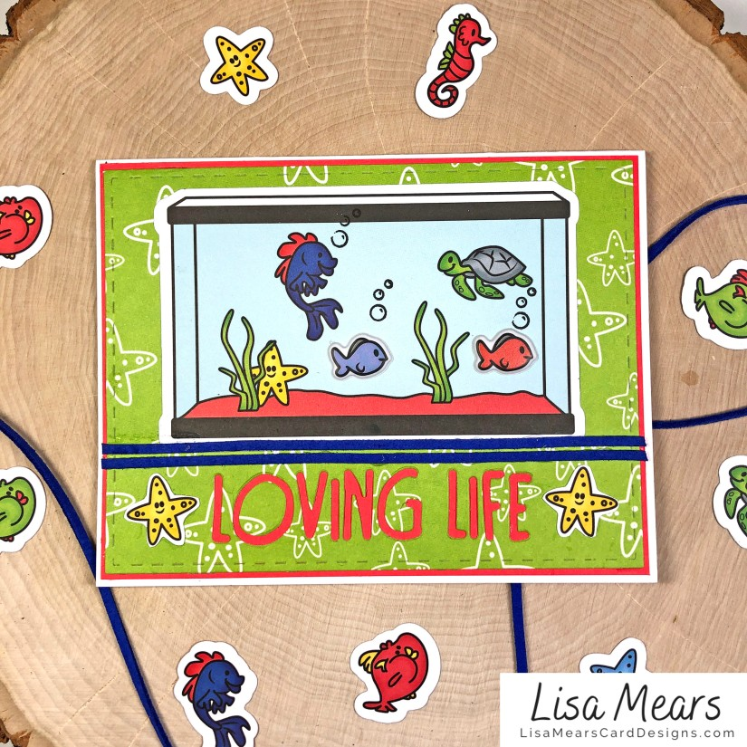 The Stamps of Life January 2021 Card Kit - Loving Life - FishTank2Stamp _Card 4