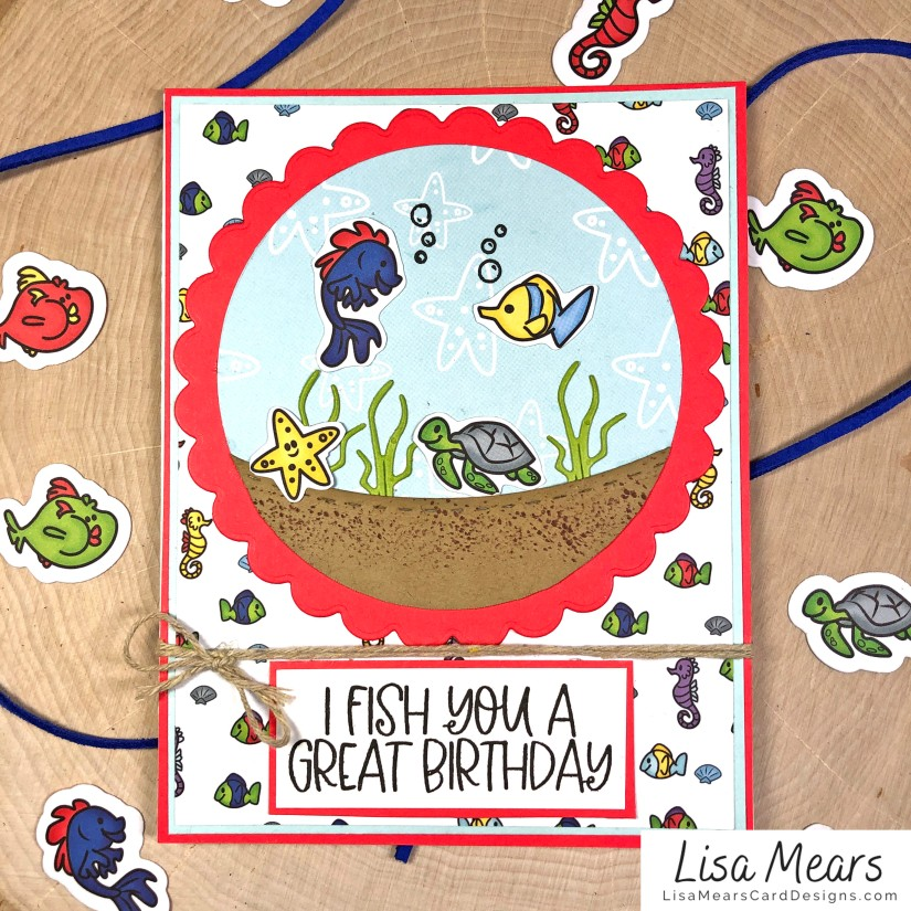 The Stamps of Life January 2021 Card Kit - Loving Life - FishTank2Stamp _Card 8