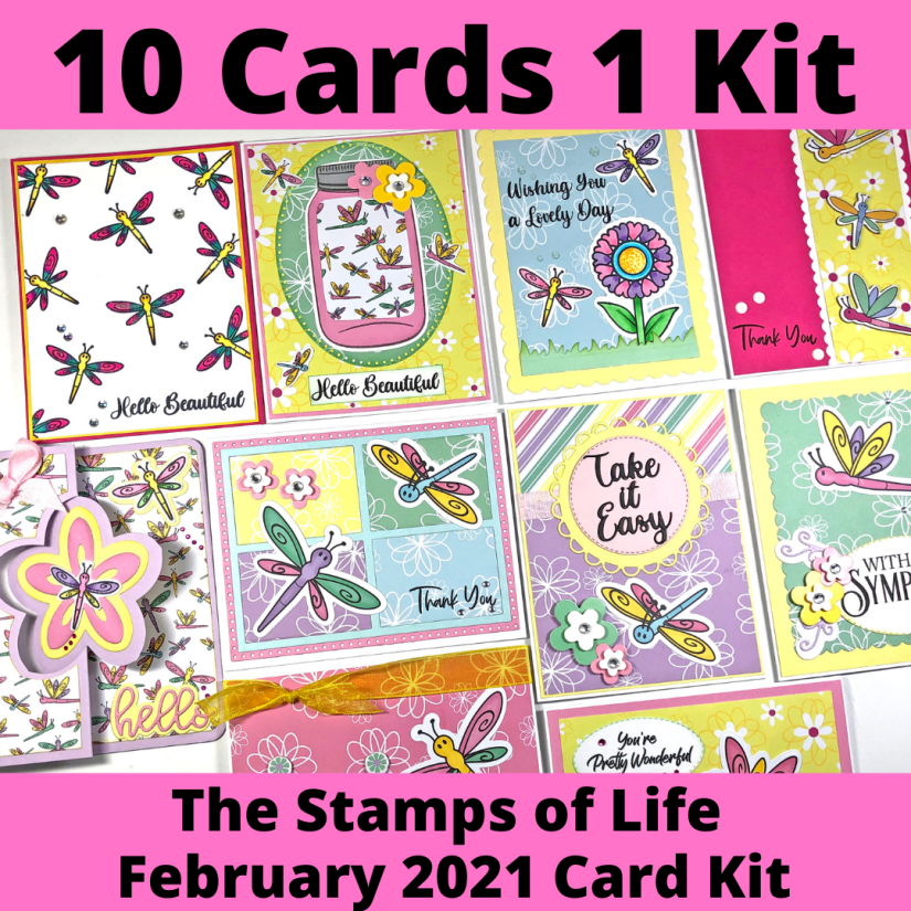 The Stamps of Life February 2021 Card Kit - 10 cards 1 kit