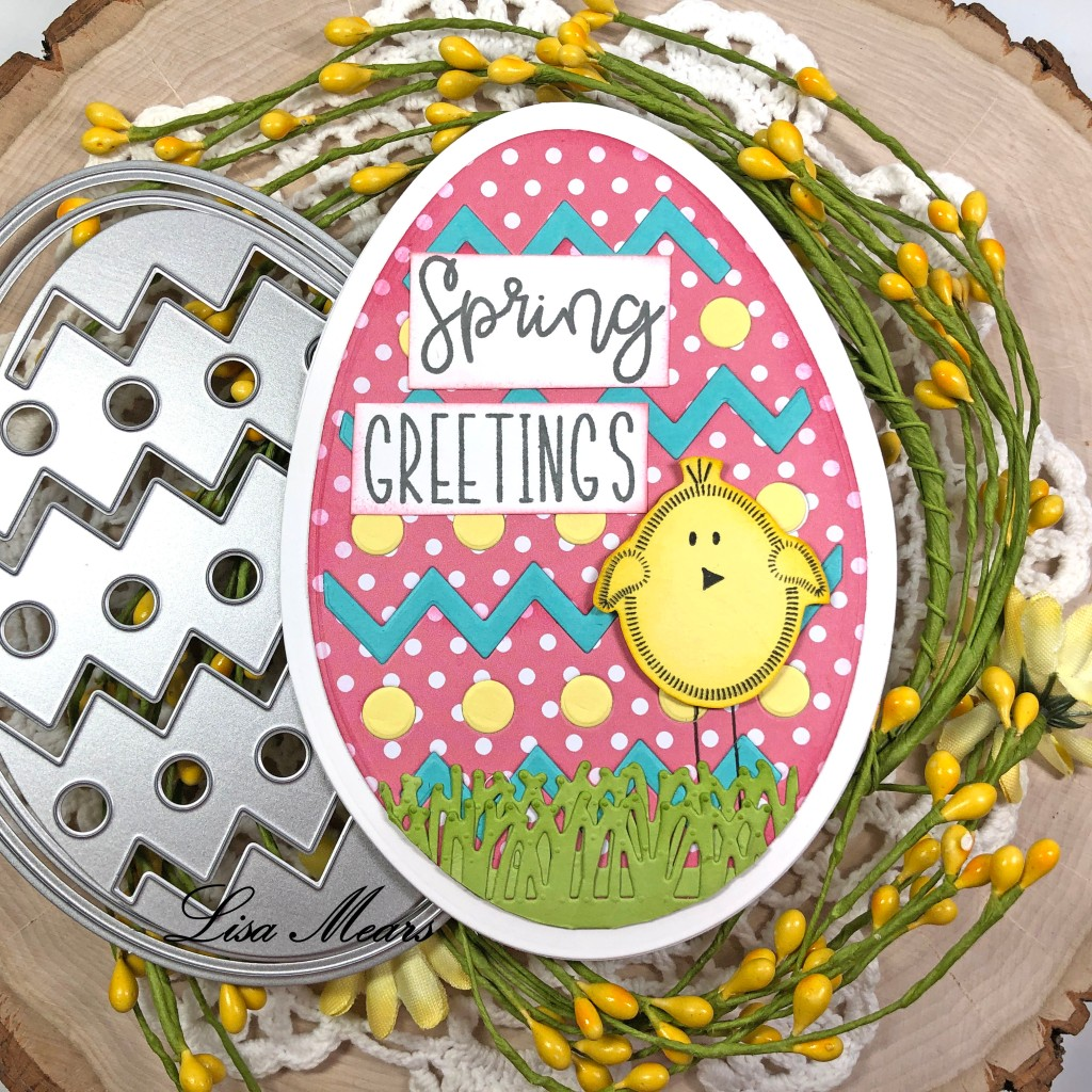 Easter Egg Shaped Card