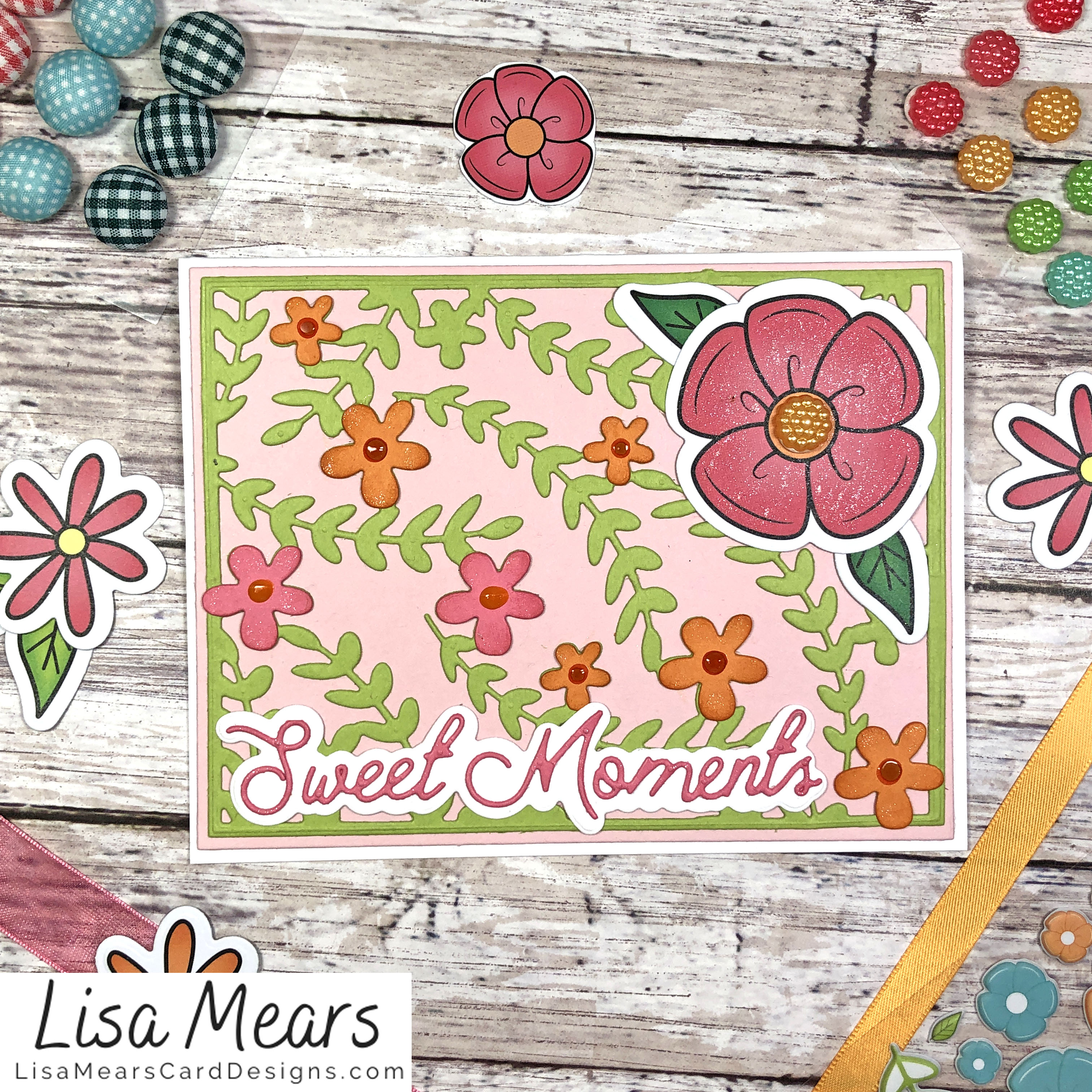 The Stamps of Life March 2021 Card Kit - Flower Card - Card 1
