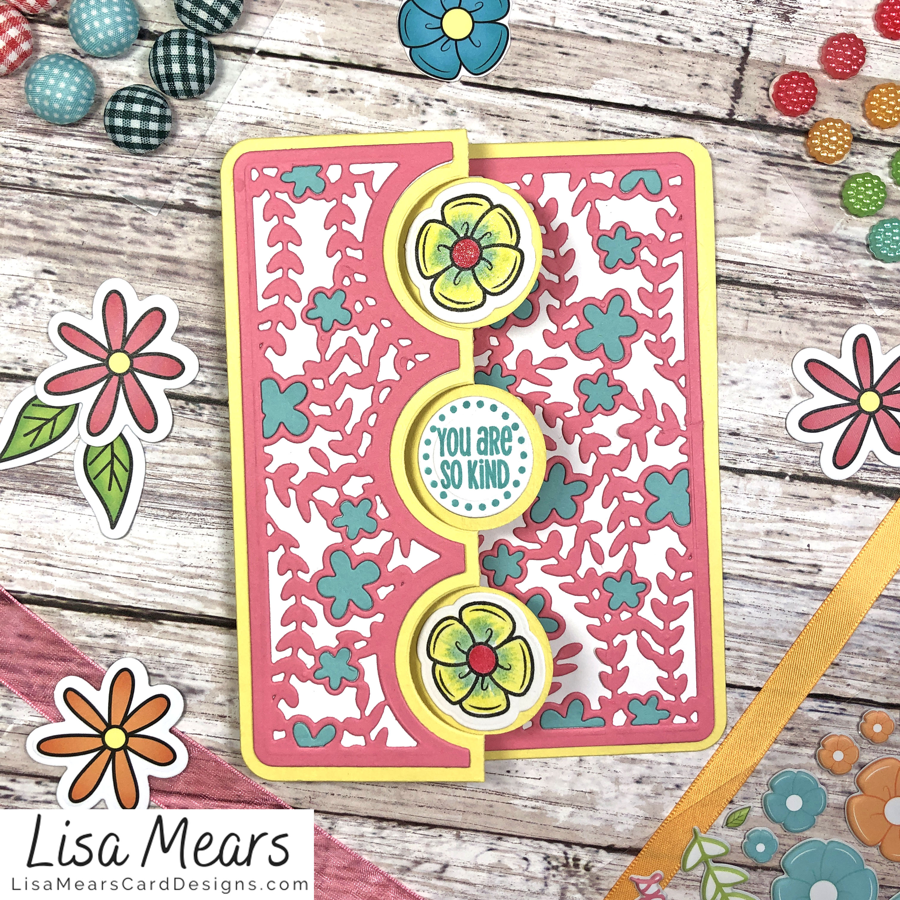 The Stamps of Life March 2021 Card Kit - Flower Card - Card 6