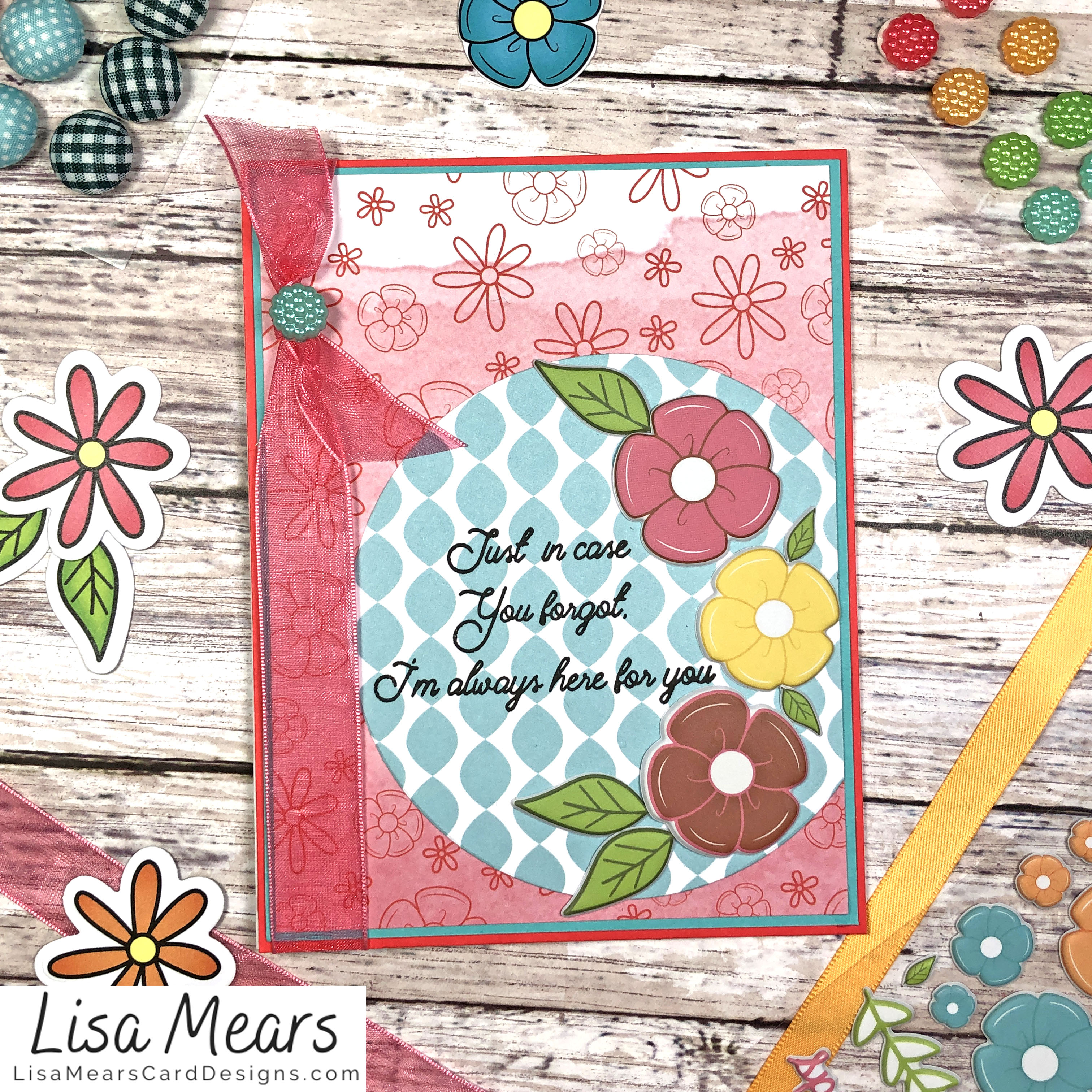 The Stamps of Life March 2021 Card Kit - Flower Card - Card 4