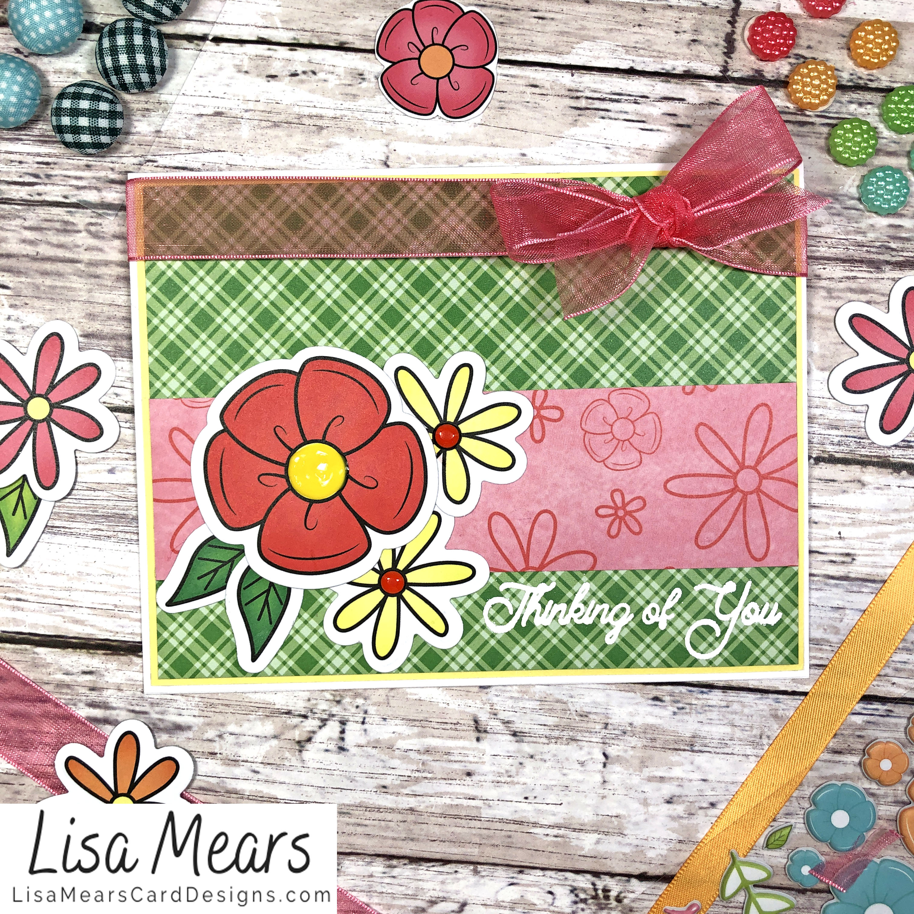 The Stamps of Life March 2021 Card Kit - Flower Card - Card 7