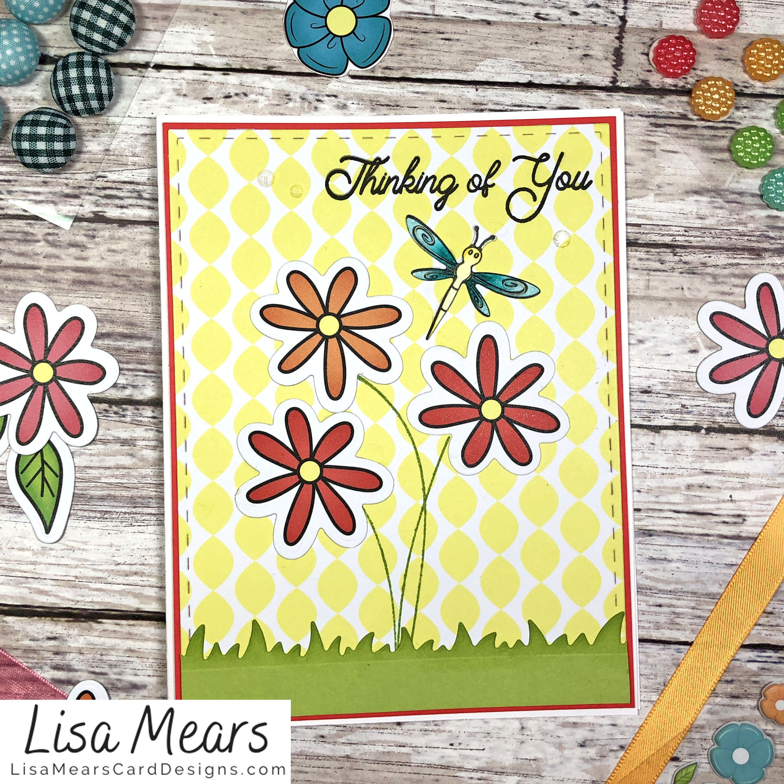 The Stamps of Life March 2021 Card Kit - Flower Card - Card 3