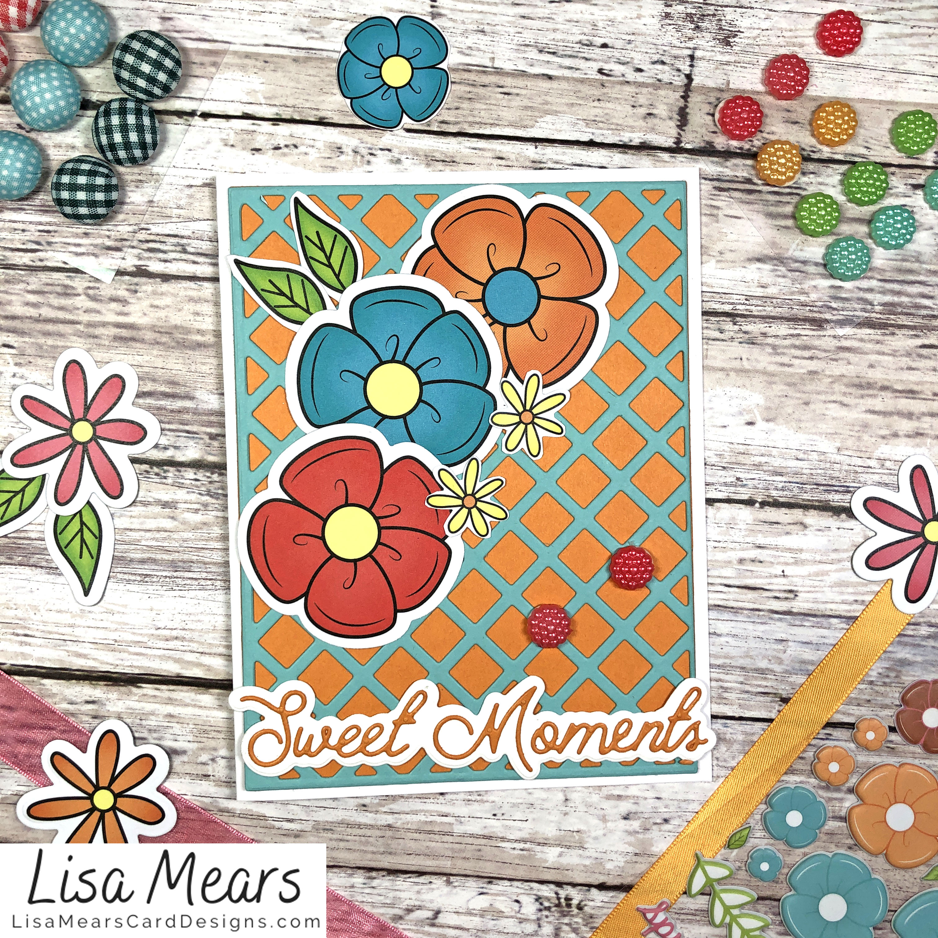 The Stamps of Life March 2021 Card Kit - Flower Card - Card 5