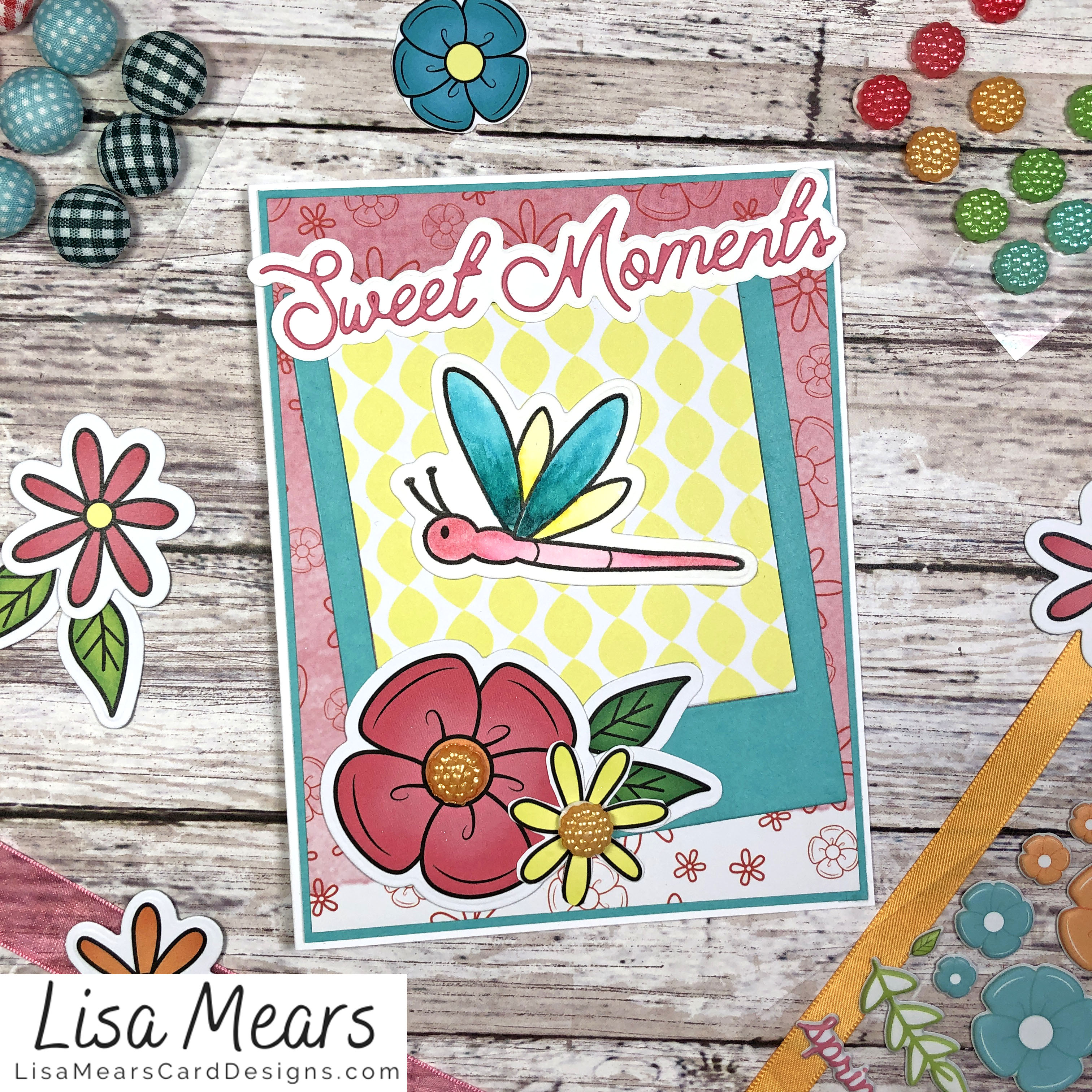 The Stamps of Life March 2021 Card Kit - Flower Card - Card 10