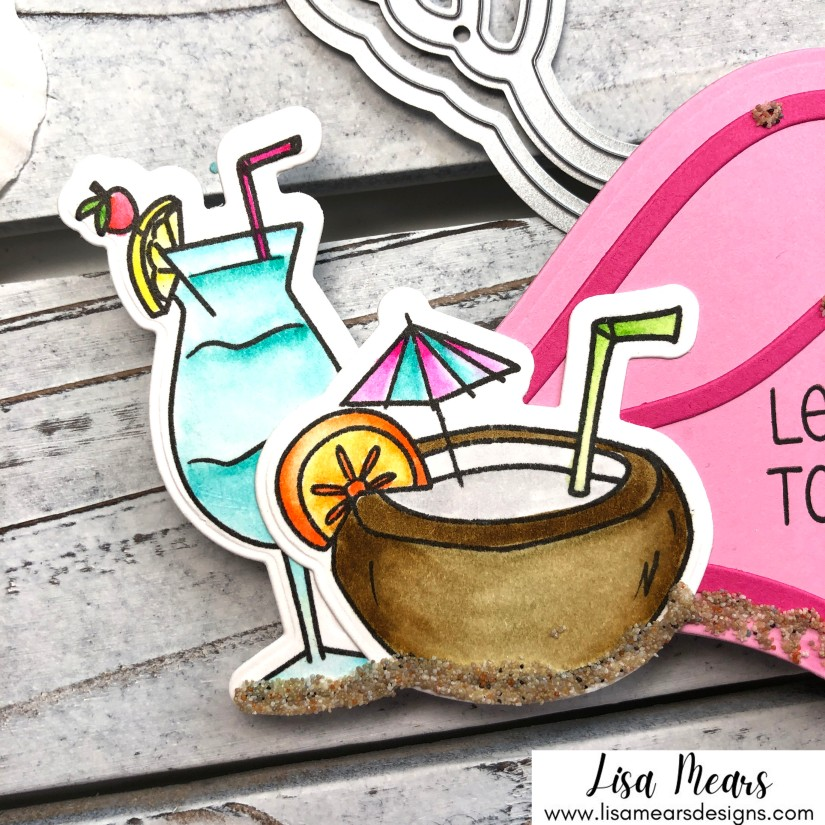 Drinks with Friends - Beach Themed Handmade Card - The Stamps of Life