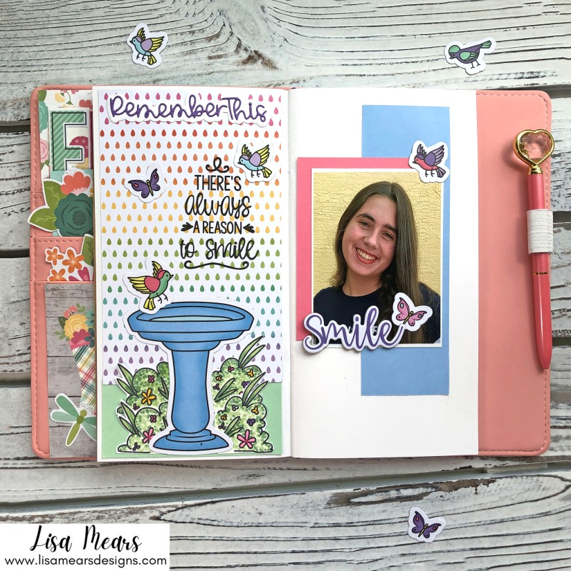 Traveler's Notebook Layout - The Stamps of Life April 2021 Card Kit