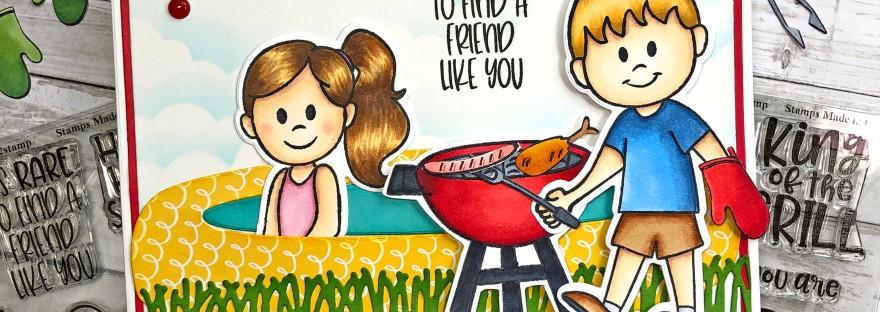 Summer Barbecue Scene Card