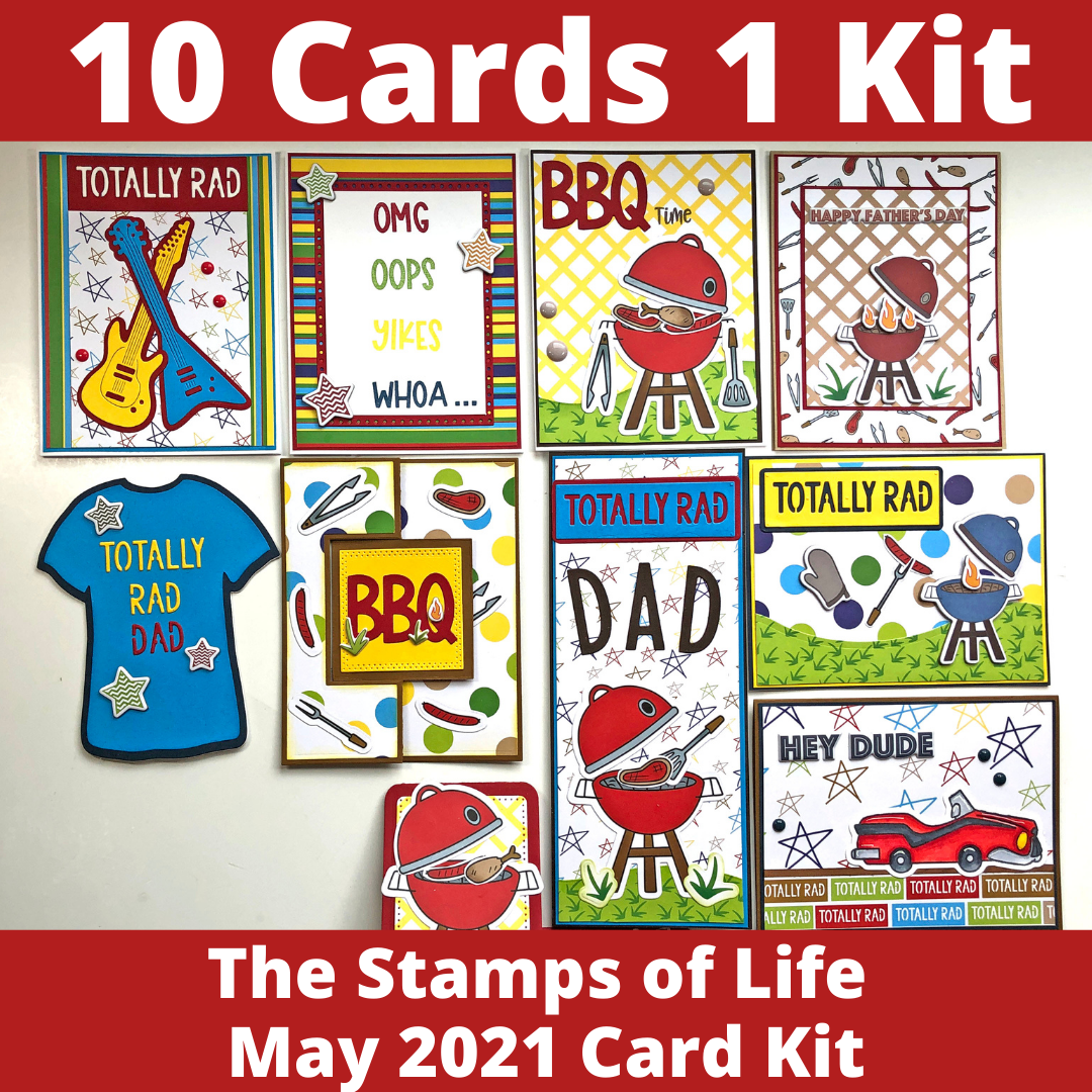 The Stamps of Life May 2021 Card Kit - 10 Cards 1 Kit