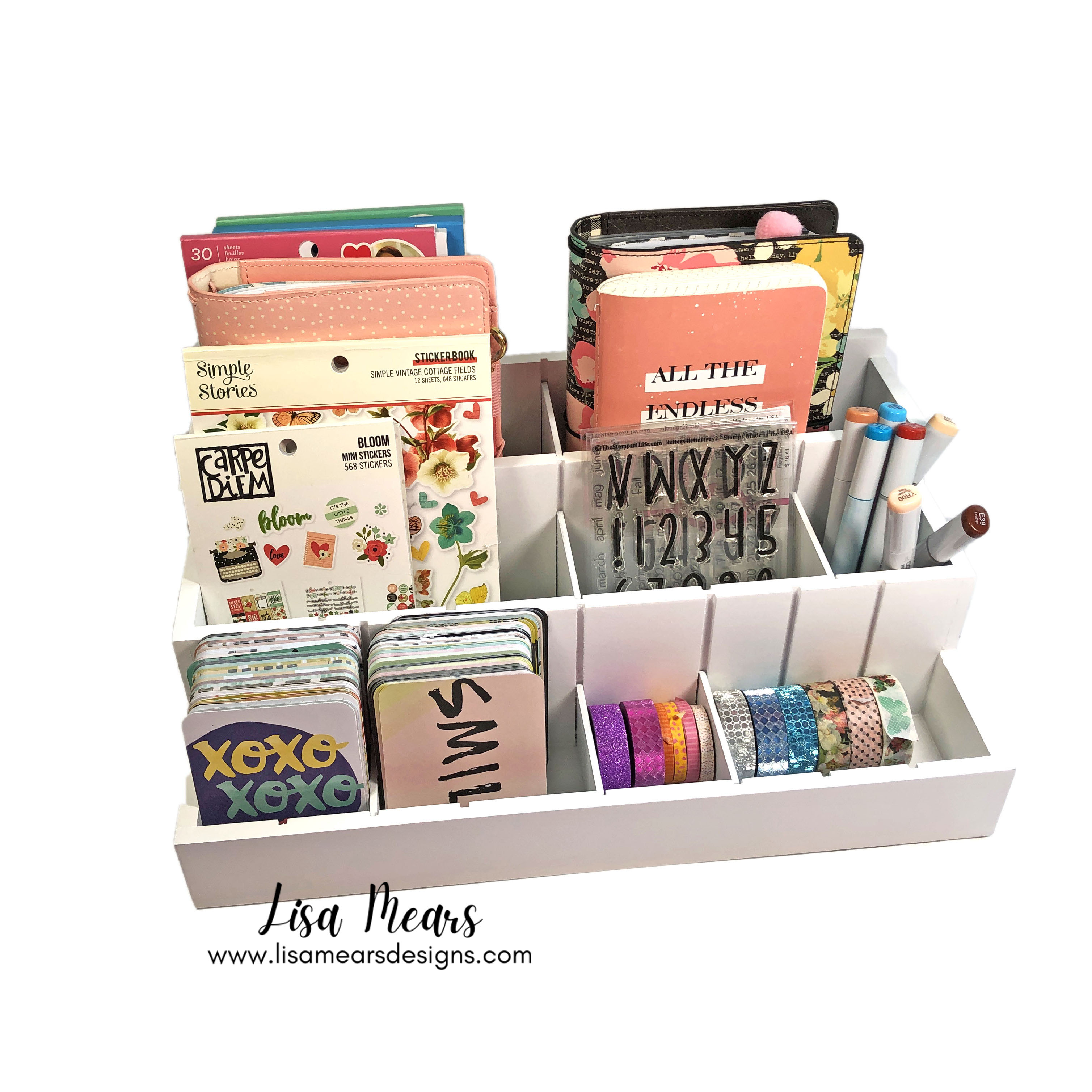 Totally Tiffany Desk Maid  - Stamp and Die Storage