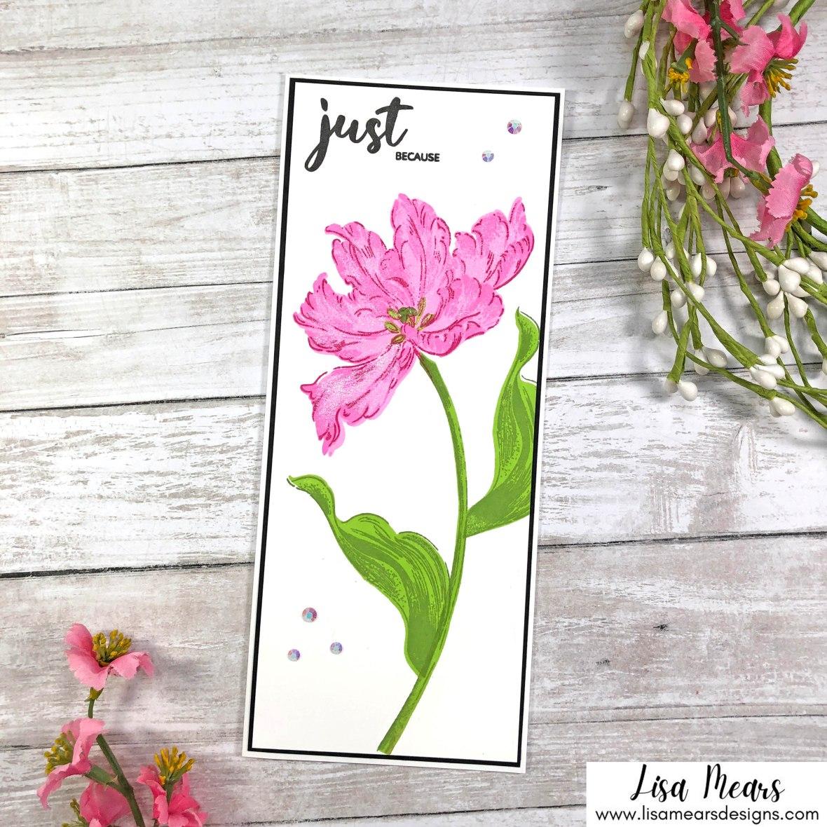 Altenew Blooming Tulip Slimline Card