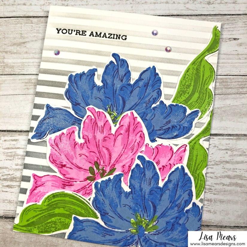 Handmade Card Using Altenew's Blooming Tulips Stamp Set