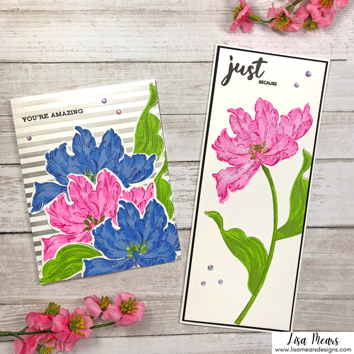 Altenew Blooming Tulips - Easy Flower Cards