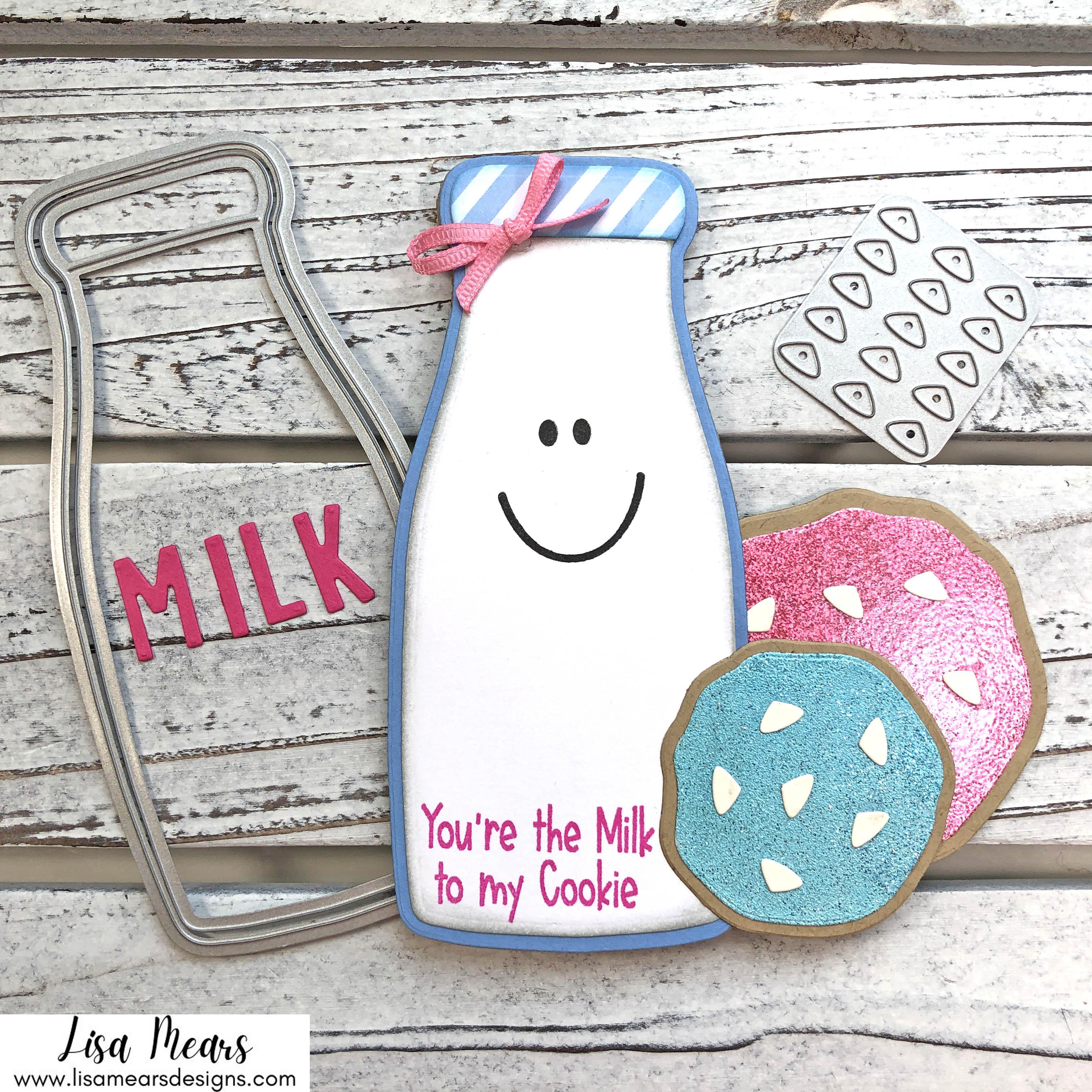 Milk Bottle Shaped Card