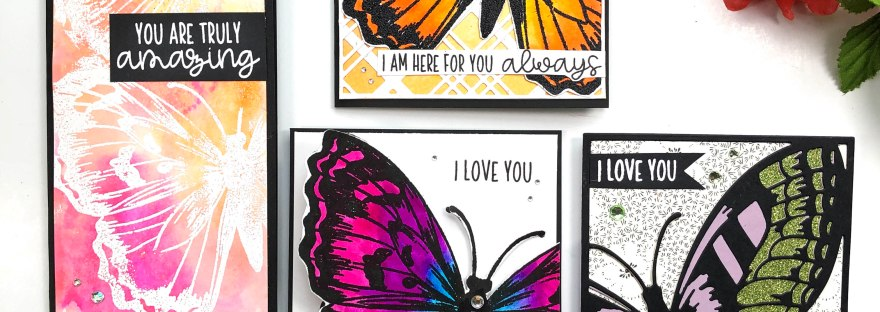 Pink and Main Butterfly Cards - Dearest Friend