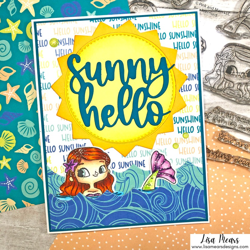 Under the Sea Slimline Card - Be a Mermaid - Pink and Main