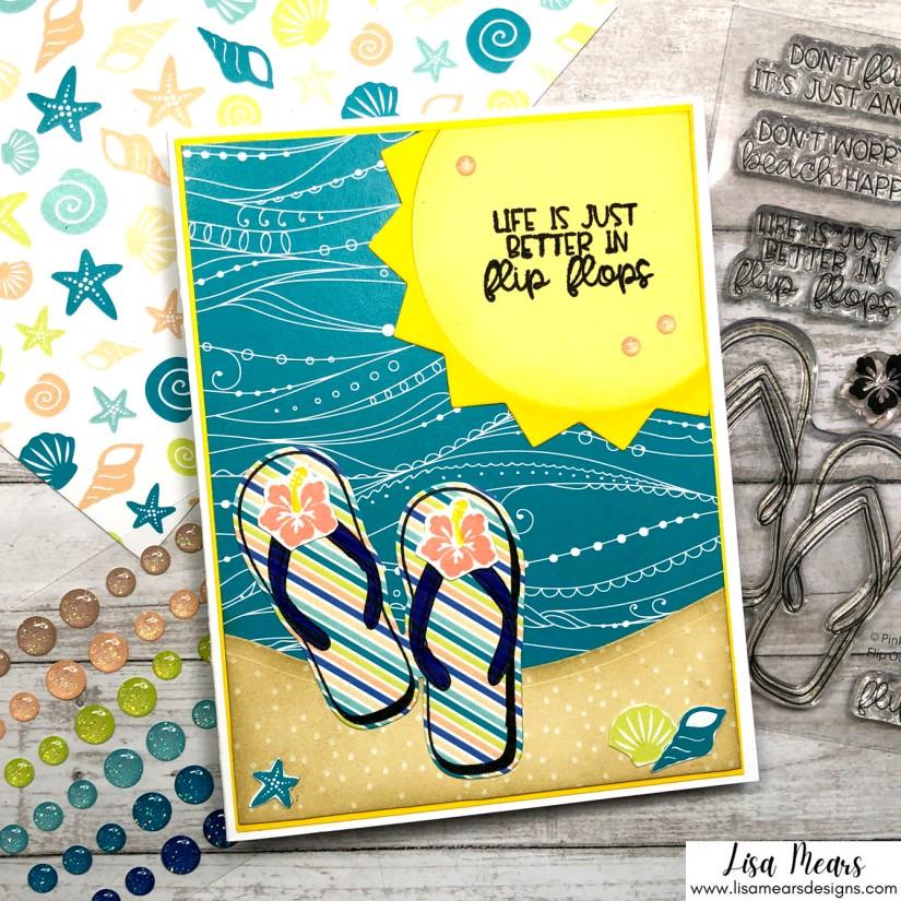 Flip Flop Summer Card - Pink and Main Stamp Set
