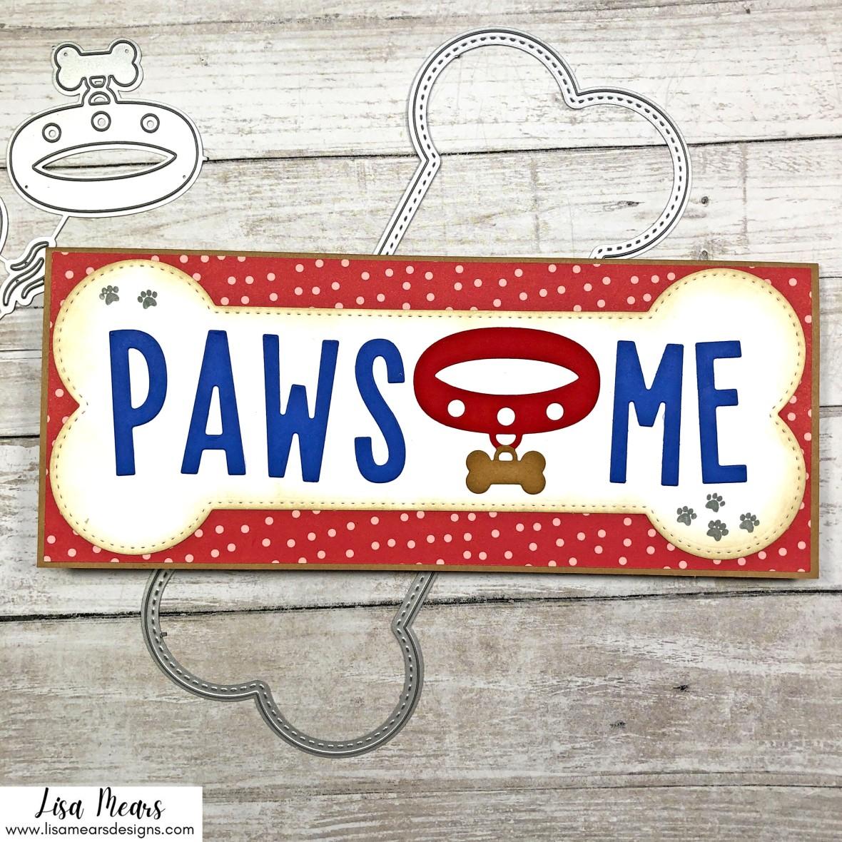 Whimsy Stamps Dog Bone Slimline Cards