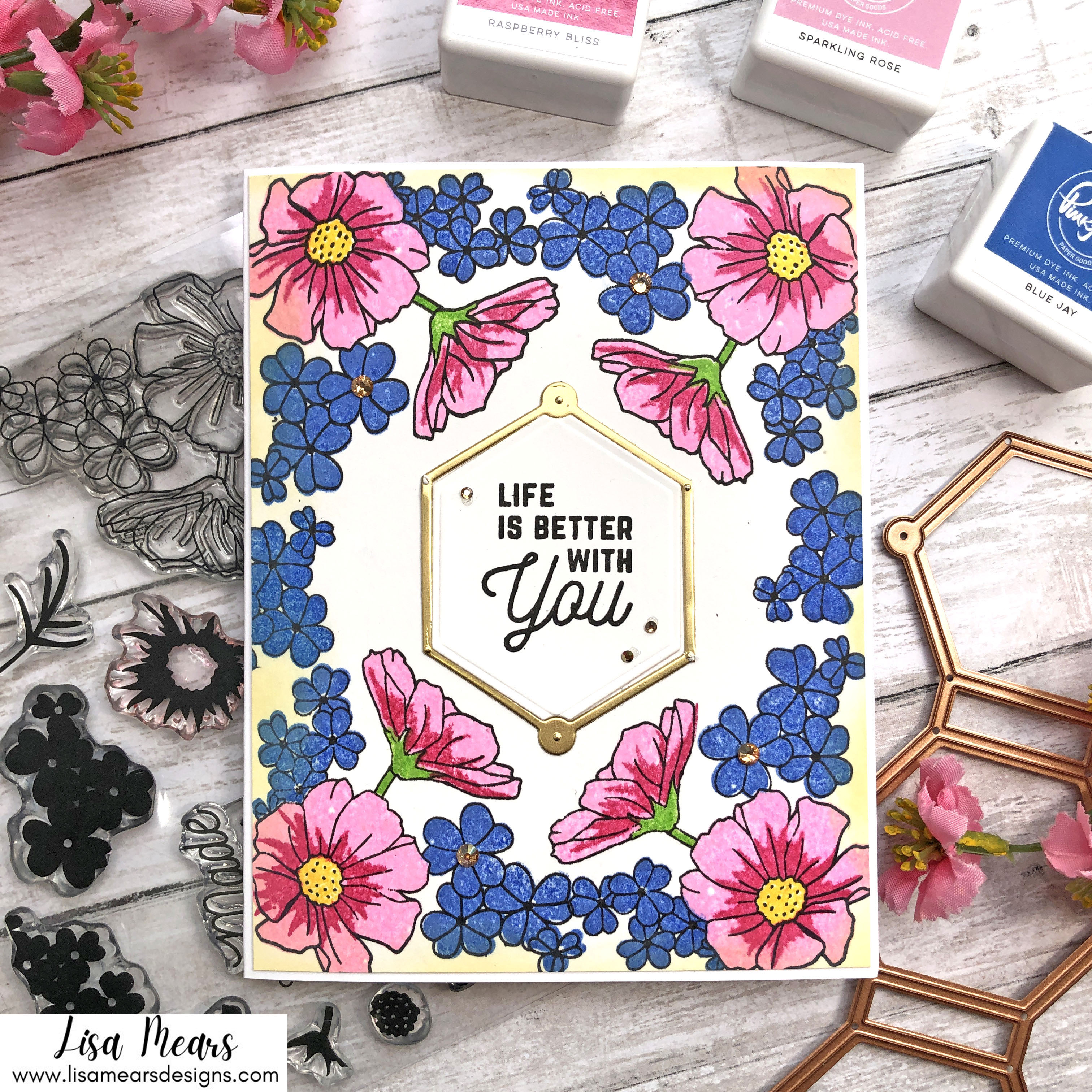 Spellbinders Small Die of the Month and Clear Stamp of the Month August 2021