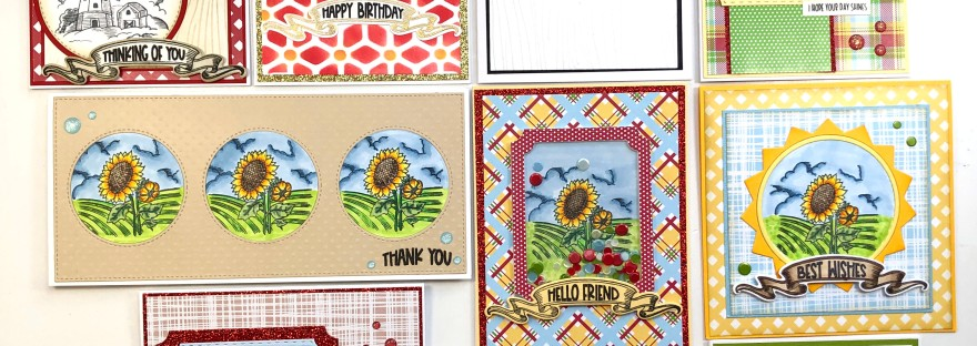 Pink and Main - 10 Cards 1 Kit - July 2021 Crafty Courtyard Kit