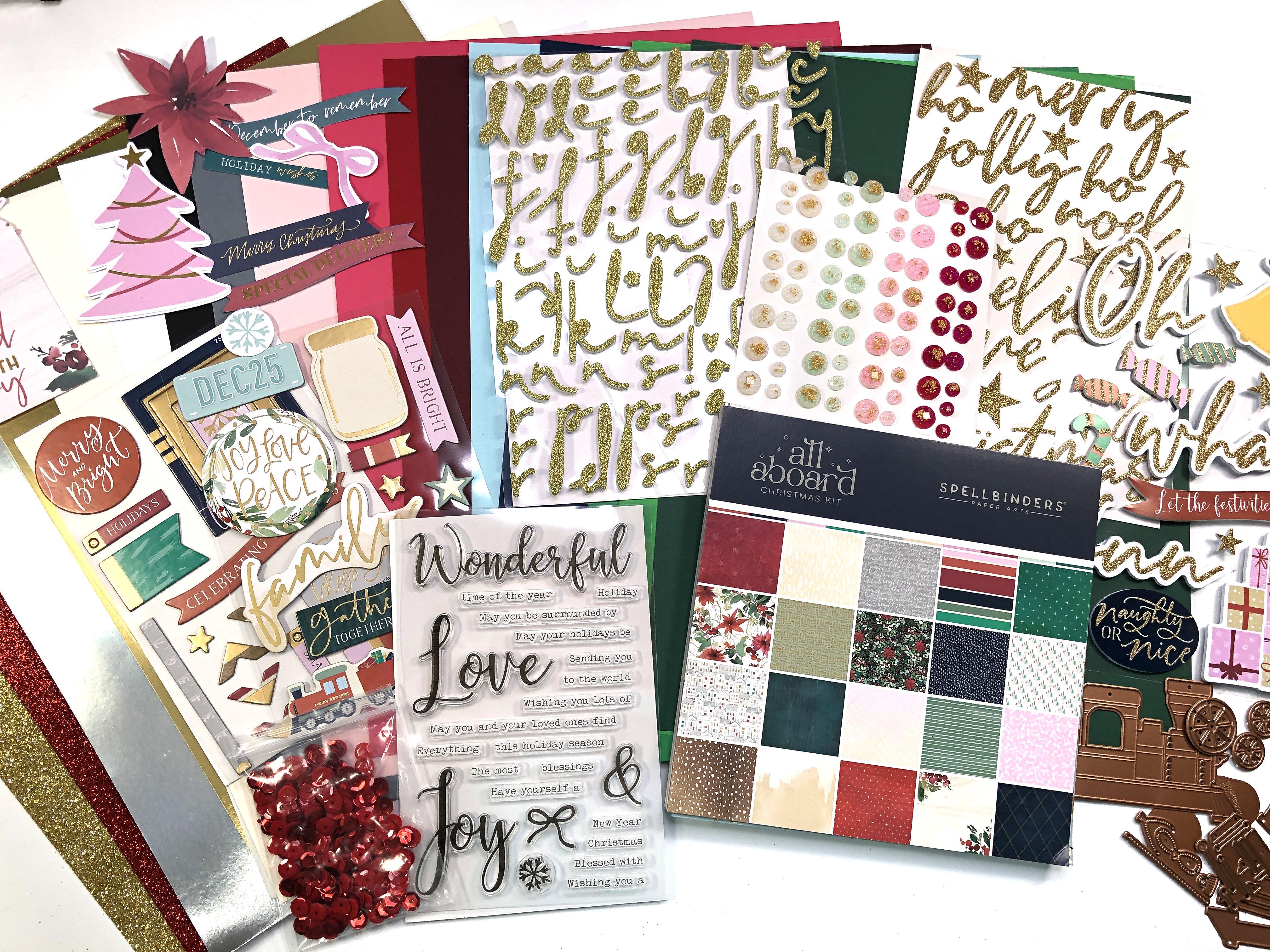 Spellbinders All Aboard Christmas Kit