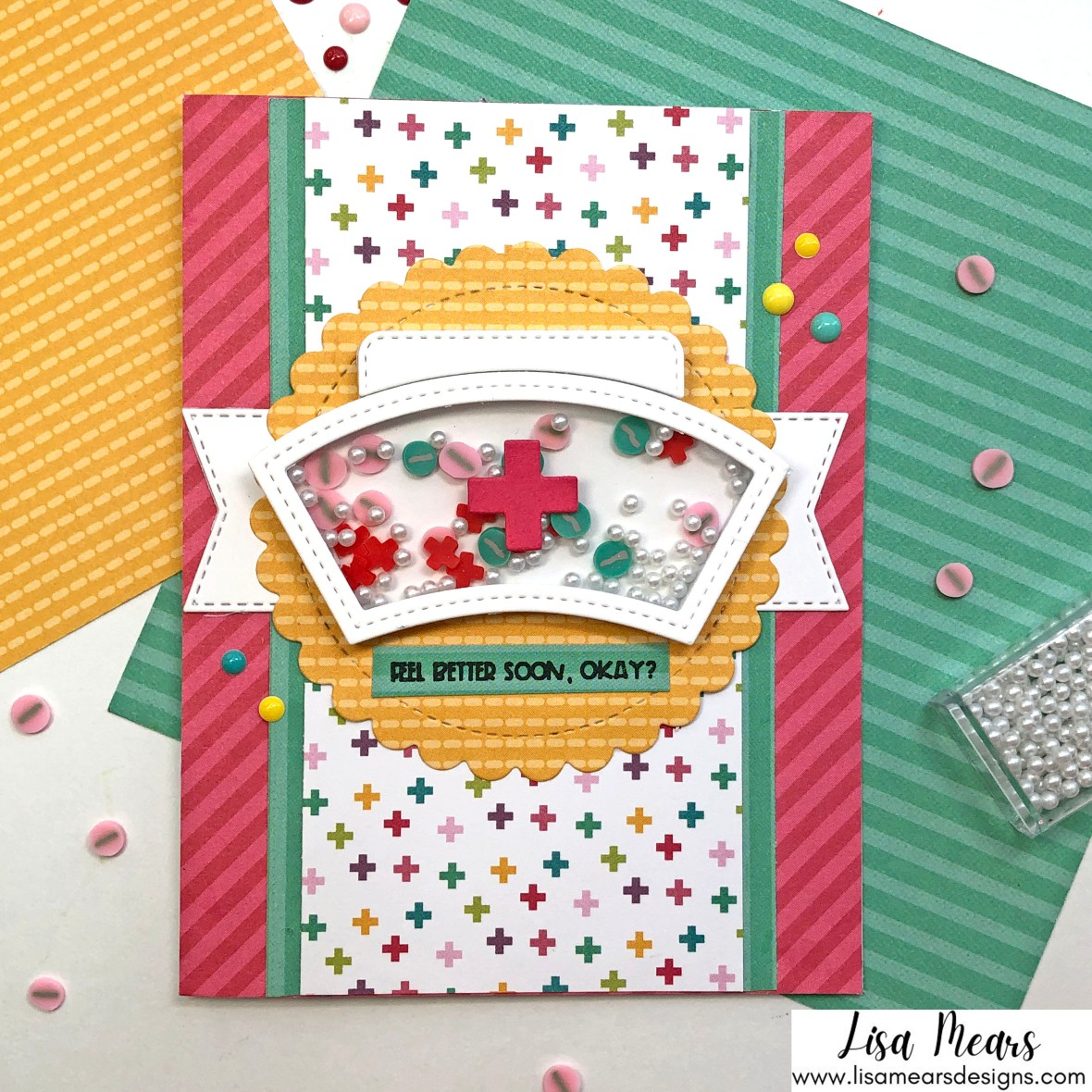 Queen & Company Get Well Shaker Kit - 10 Cards 1 Kit