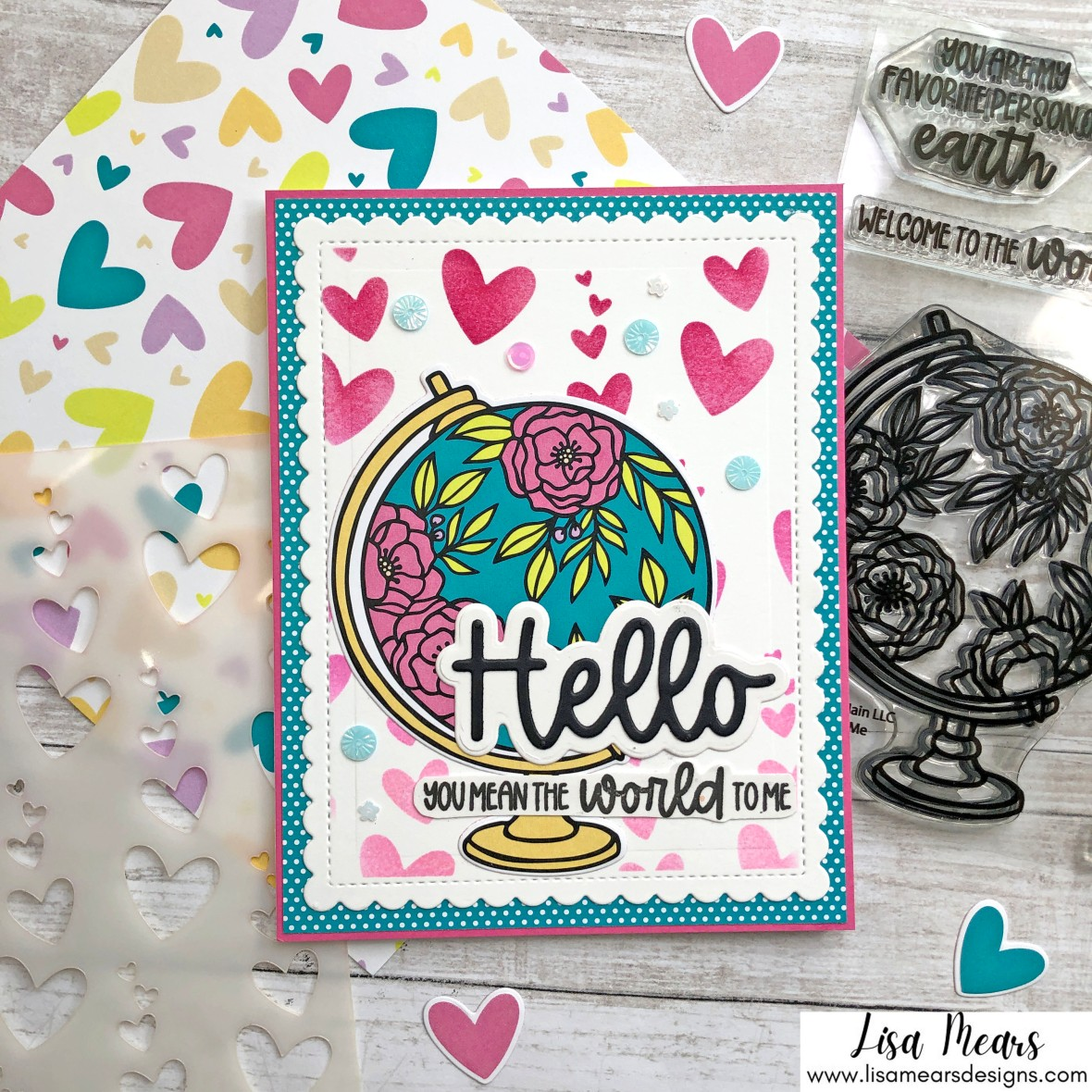 Pink and Main August 2021 Card Kit - 10 Cards 1 Kit - Lisa Mears Designs