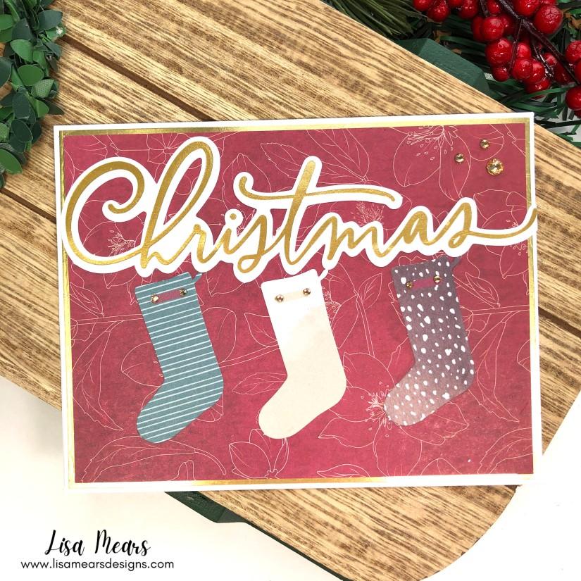 Lisa Mears Spellbinders All Aboard Christmas Kit - 20 Cards