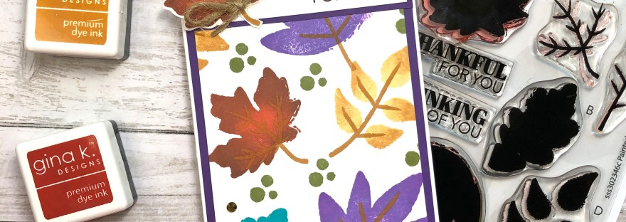 Simon Says Stamp - Painted Leaves - Stamptember Release - Slimline Card